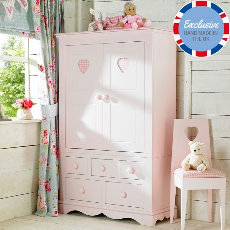 Amusing Childrens Pink Wardrobe Fabulous Home Decorating Ideas Intended For Childrens Pink Wardrobes (View 1 of 15)