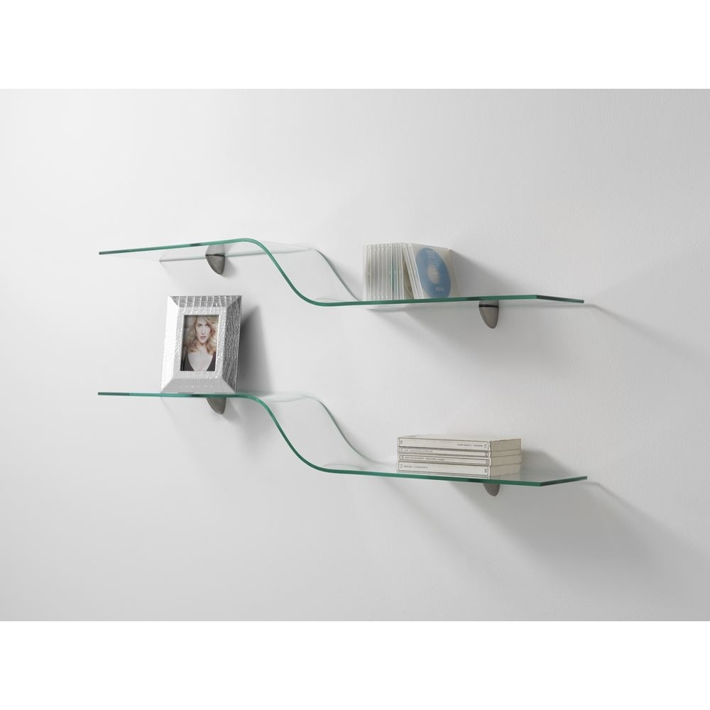 Amusing Curved Glass Wall Shelves 30 About Remodel Free Floating Inside Free Floating Glass Shelves (#1 of 12)