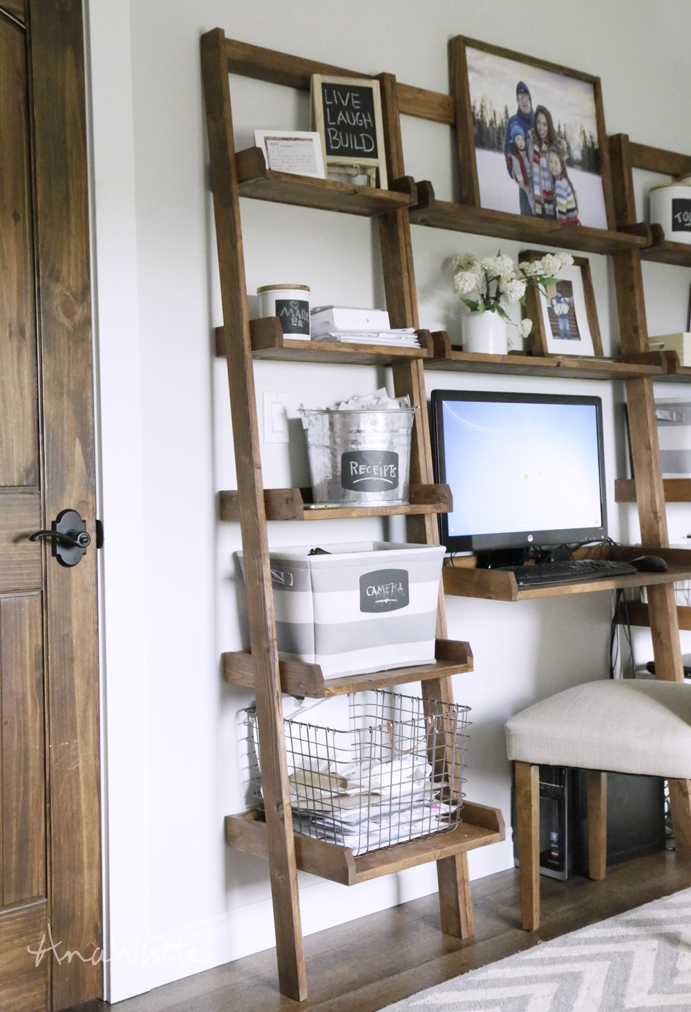 Ana White Leaning Ladder Wall Bookshelf Diy Projects For Build Bookcase Wall (View 2 of 15)