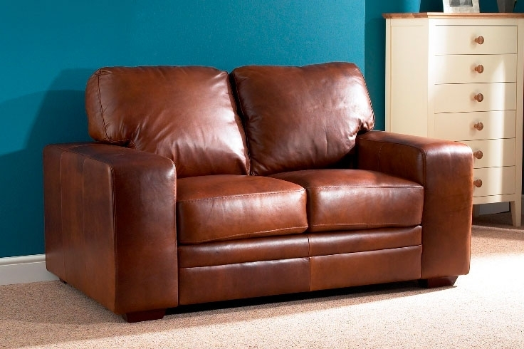 Popular Photo of Aniline Leather Sofas