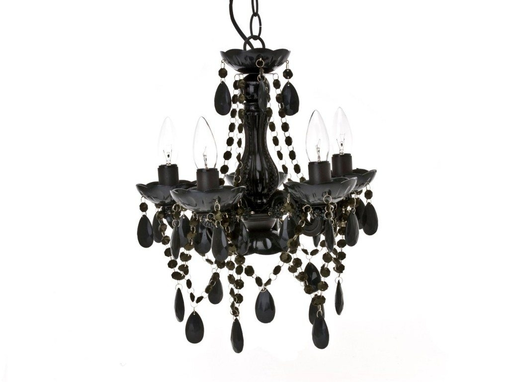 Antique Black Glass Chandelier 9600 Gipsy Design Five Lights With Regard To Black Glass Chandelier (#2 of 12)