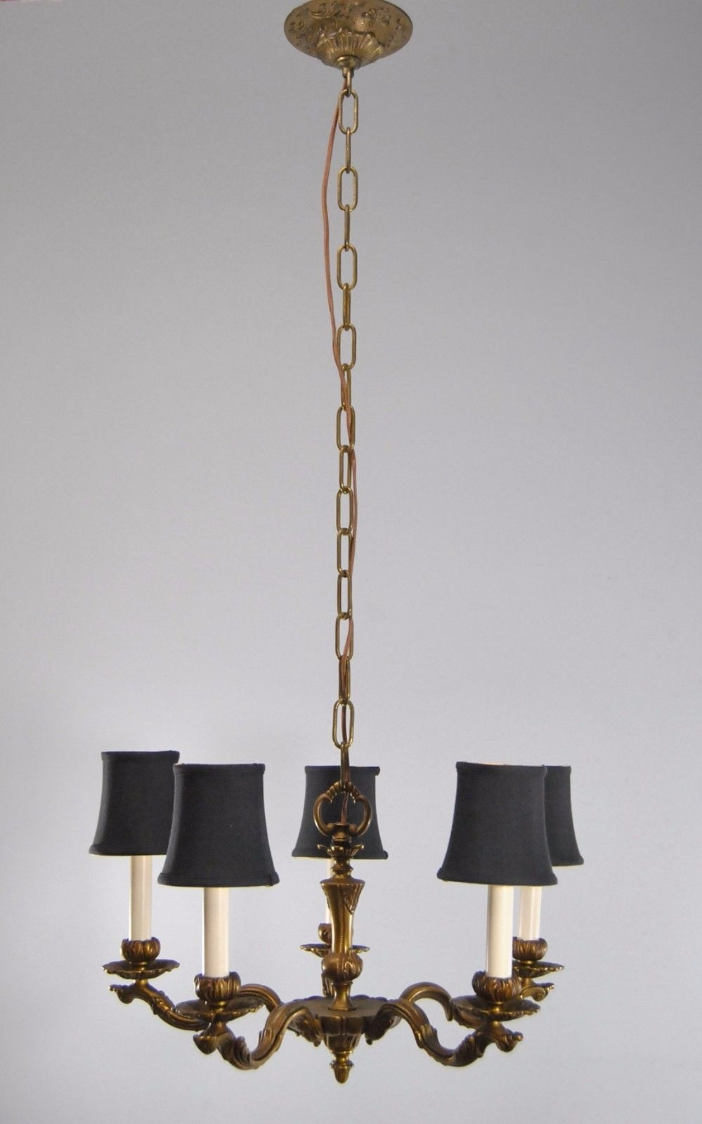 Antique Five Arm French Style Chandelier Lefflers Antiques Throughout French Style Chandelier (#4 of 12)
