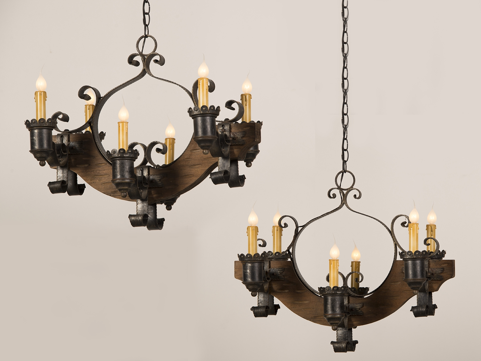 Antique Iron Chandelier With Cast Iron Antique Chandelier (#6 of 12)
