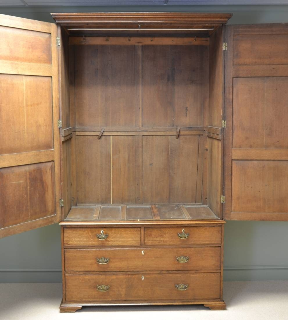 Antique Linen Cupboard Antique Furniture Inside Oak Linen Cupboard (#3 of 15)