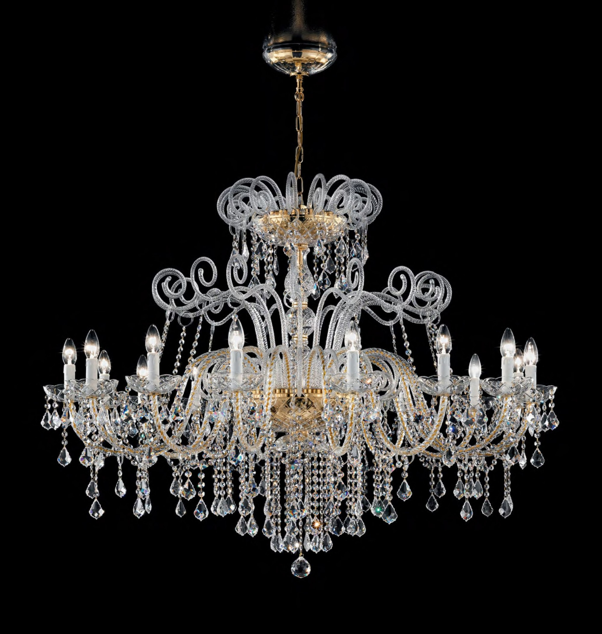 Antique Style Murano Glass Swarovski Crystals Chandelier Syl948k16 Regarding Antique Looking Chandeliers (#3 of 12)
