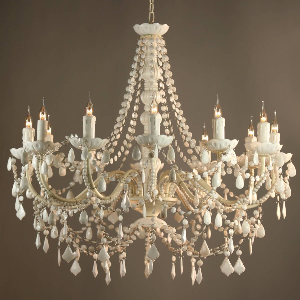 Antique White Chandelier With Vintage French Chandeliers (#3 of 12)