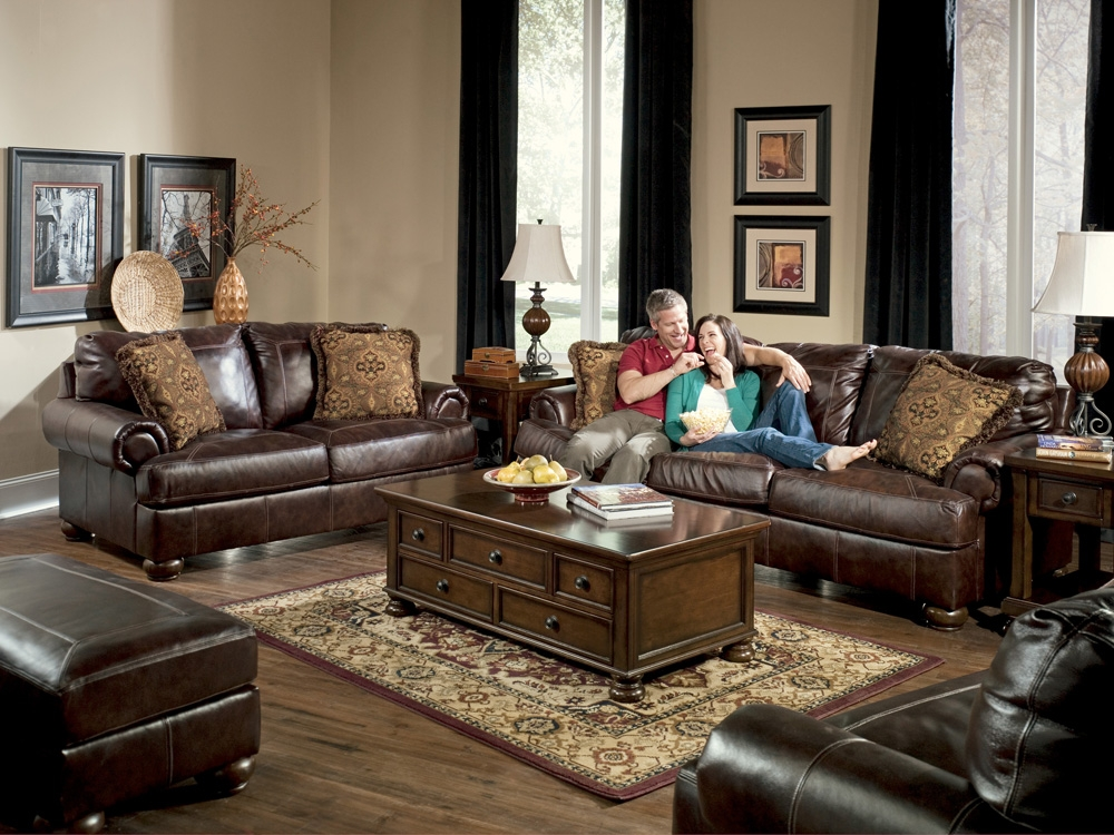 Appealing Traditional Living Room Leather With Regard To Living Room Sofas (#1 of 15)