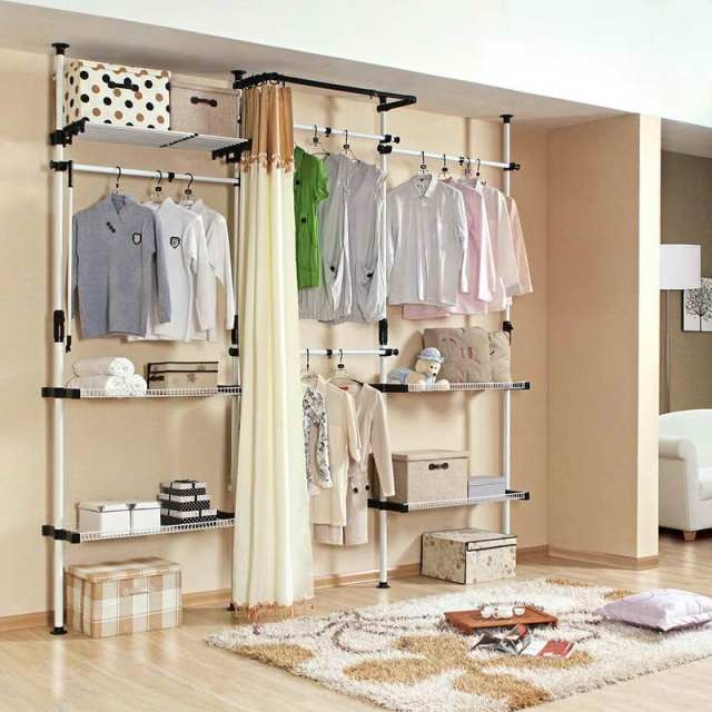 Armoire Free Standing Wardrobe Contemporary Design Outstanding Intended For Discount Wardrobes (View 15 of 15)