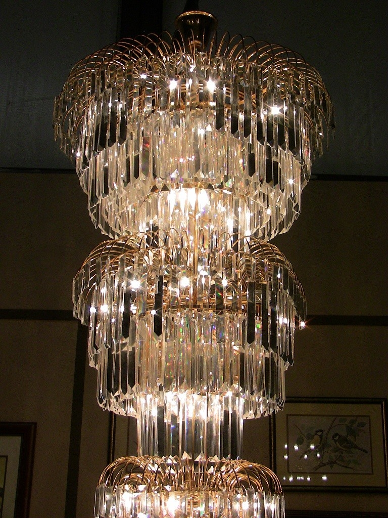 Art Deco Crystal Chandelier Pertaining To Large Art Deco Chandelier (#5 of 12)