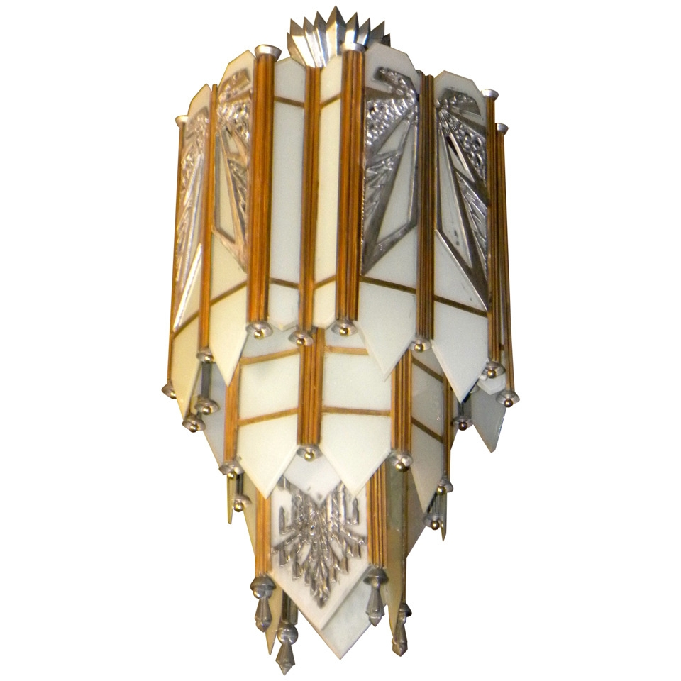 Art Deco Lighting Sold Chandeliers Art Deco Collection Pertaining To Art Deco Chandelier (#8 of 12)