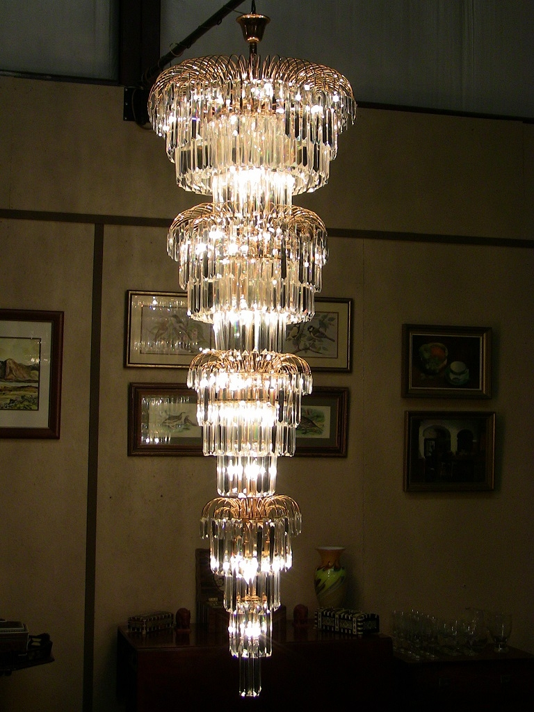 Art Deco Style Multi Layered Swarofski Crystal Chandelier Extra Inside Large Art Deco Chandelier (#7 of 12)