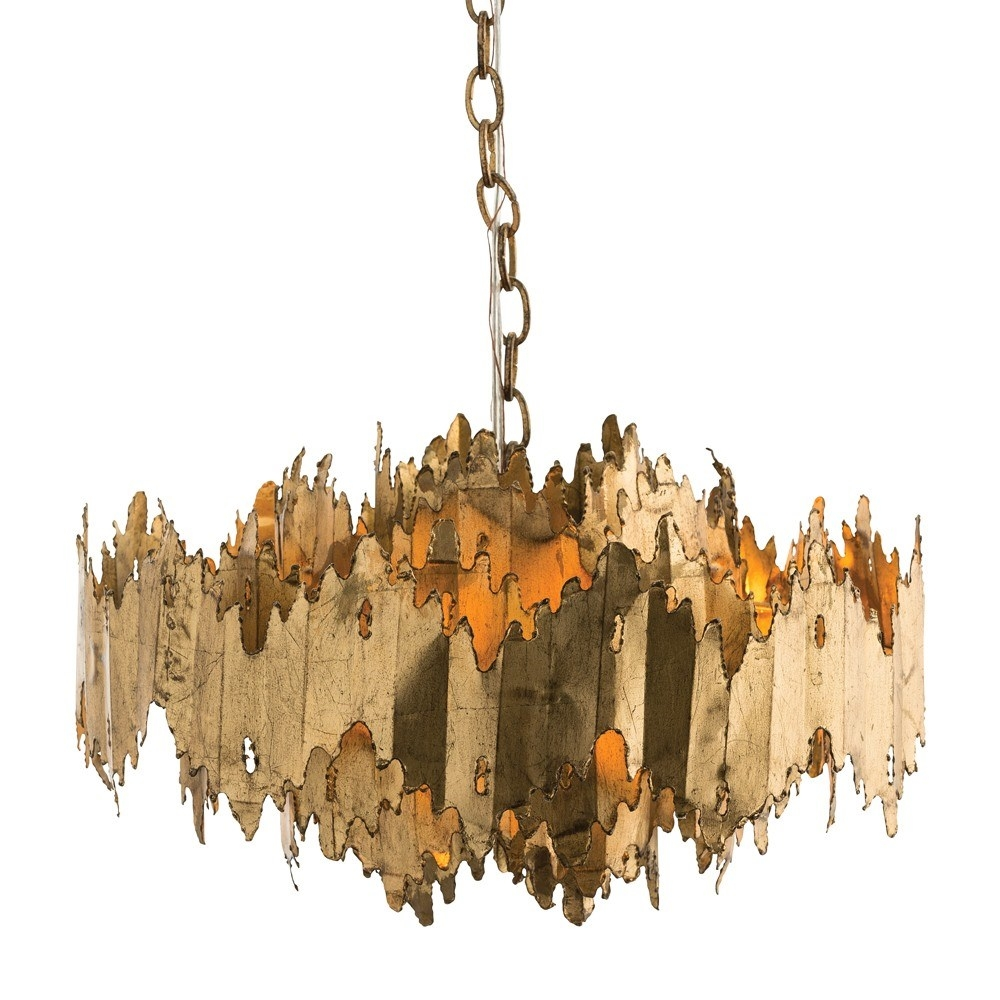Arteriors 86800 Payne 7 Light Chandelier In Gold Leaf Homeclick In Gold Leaf Chandelier (#1 of 12)