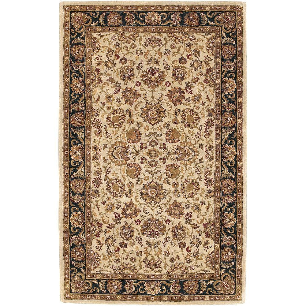 Artistic Weavers Feroza Beige 5 Ft X 8 Ft Semi Worsted New Regarding New Zealand Wool Area Rugs (#2 of 15)