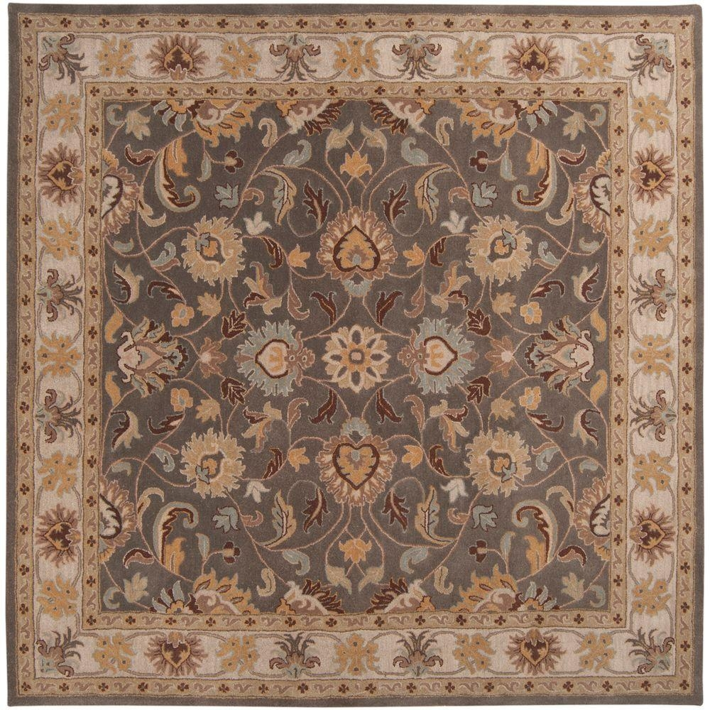 Artistic Weavers John Taupe 9 Ft 9 In X 9 Ft 9 In Square Area Regarding Square Wool Area Rugs (#2 of 15)