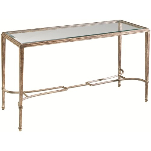 Artistica Sangiovese Rectangular Glass Top Console Table With Regarding Metal Glass Sofa Tables (#5 of 15)
