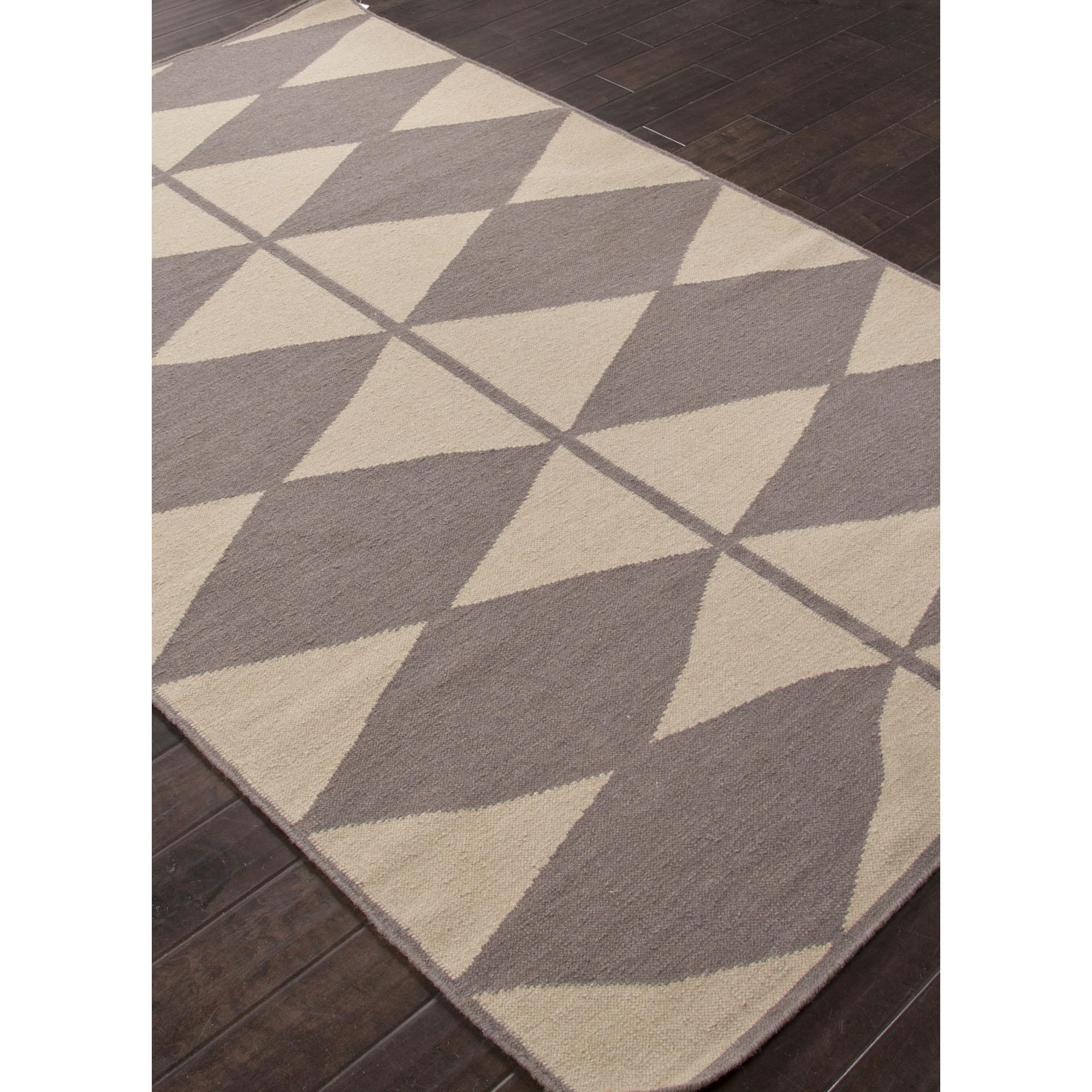 Asterlane Flat Weave Geometric Pattern Grayivory Wool Area Rug Inside 4×6 Wool Area Rugs (#2 of 15)