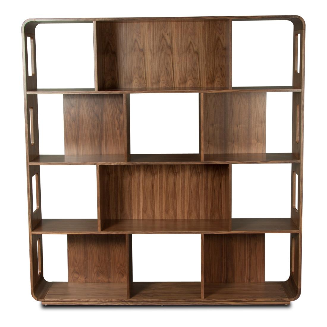 Astounding Black Shelving System Design For Living Room Interior For Wooden Shelving Units (View 12 of 15)