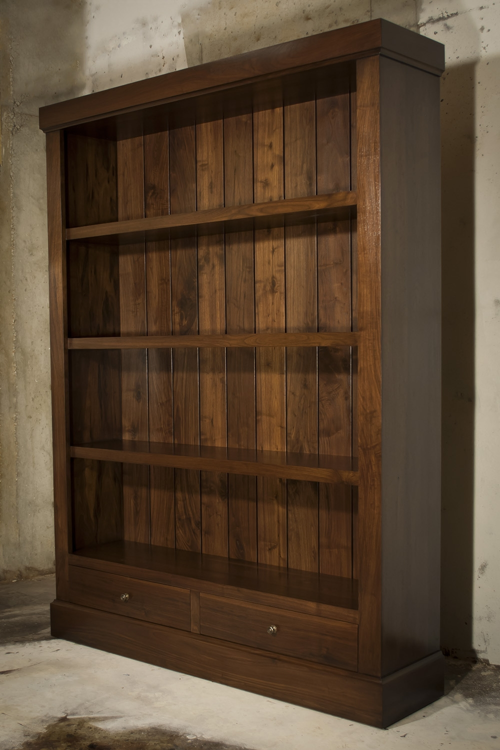 Atlanta Ga Custom Bookcase Library Design Atlanta Custom Pertaining To Large Solid Wood Bookcase (#2 of 15)