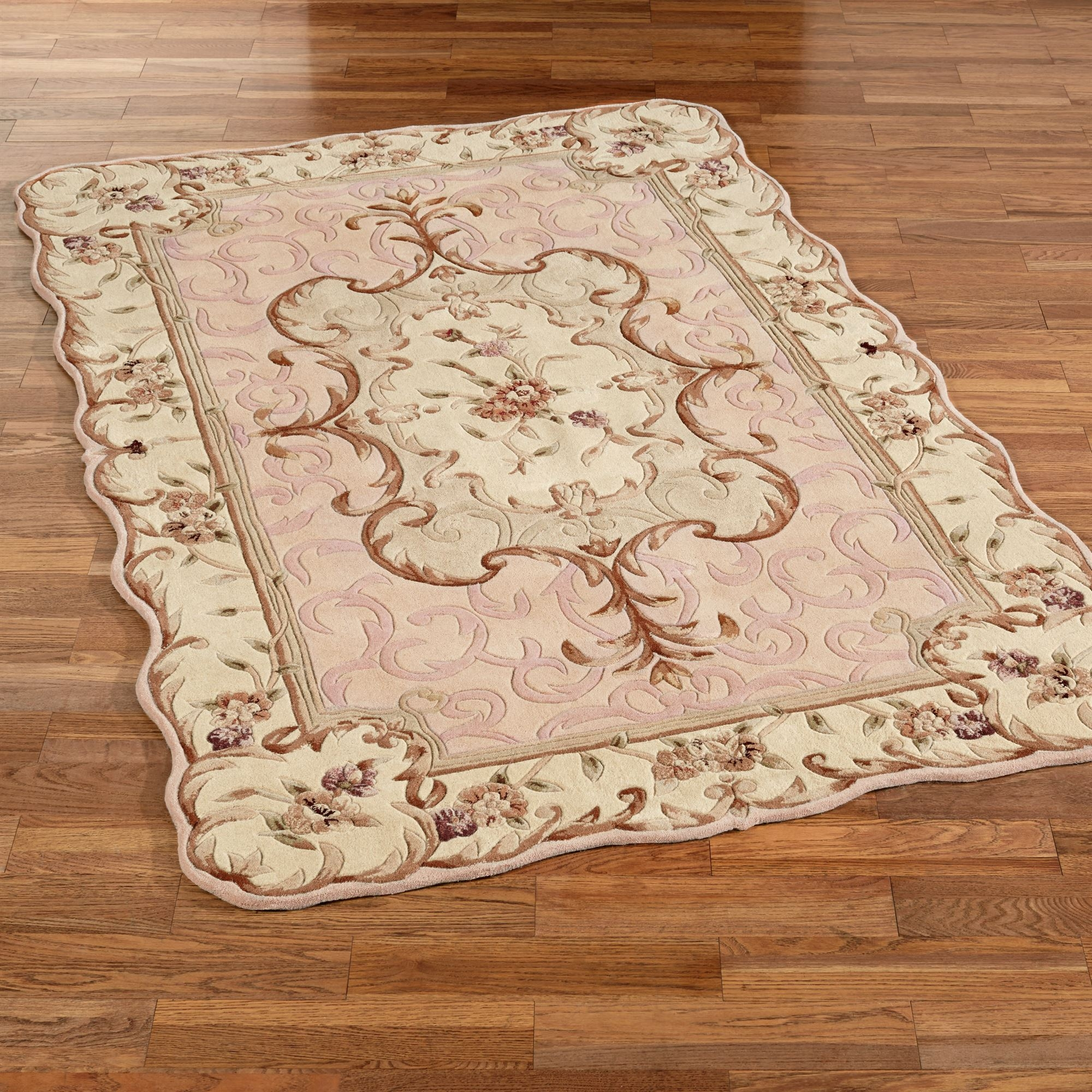 Aubusson Rugs Touch Of Class Pertaining To Round Wool Area Rugs (#4 of 15)