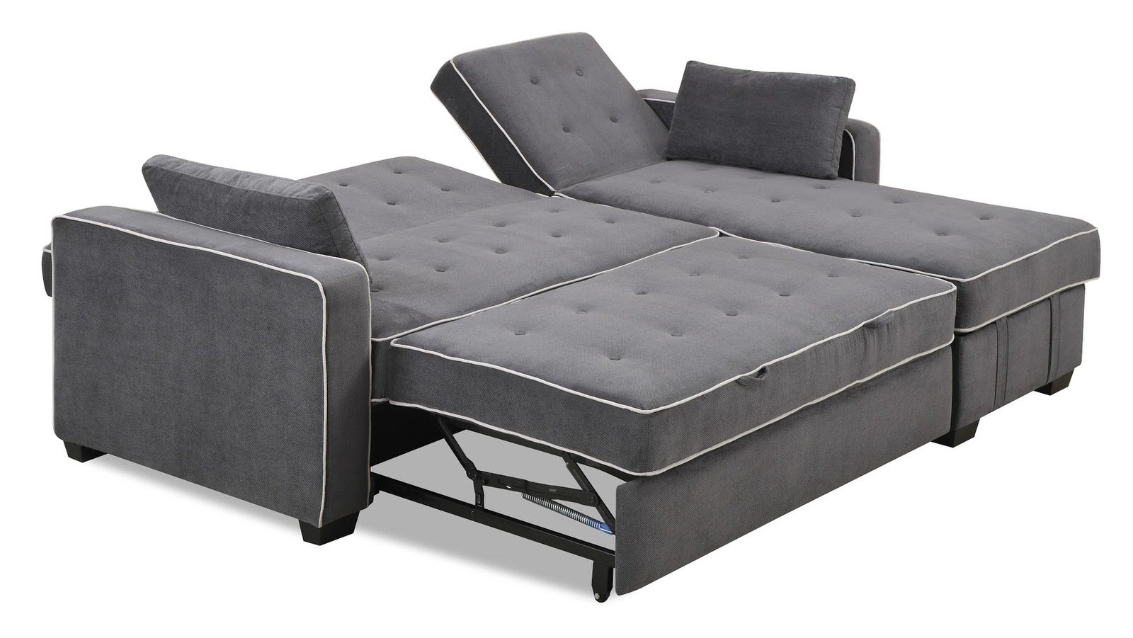 Augustine Sectional Moon Grey Serta Lifestyle Regarding Convertible Sofa Bed (#1 of 15)