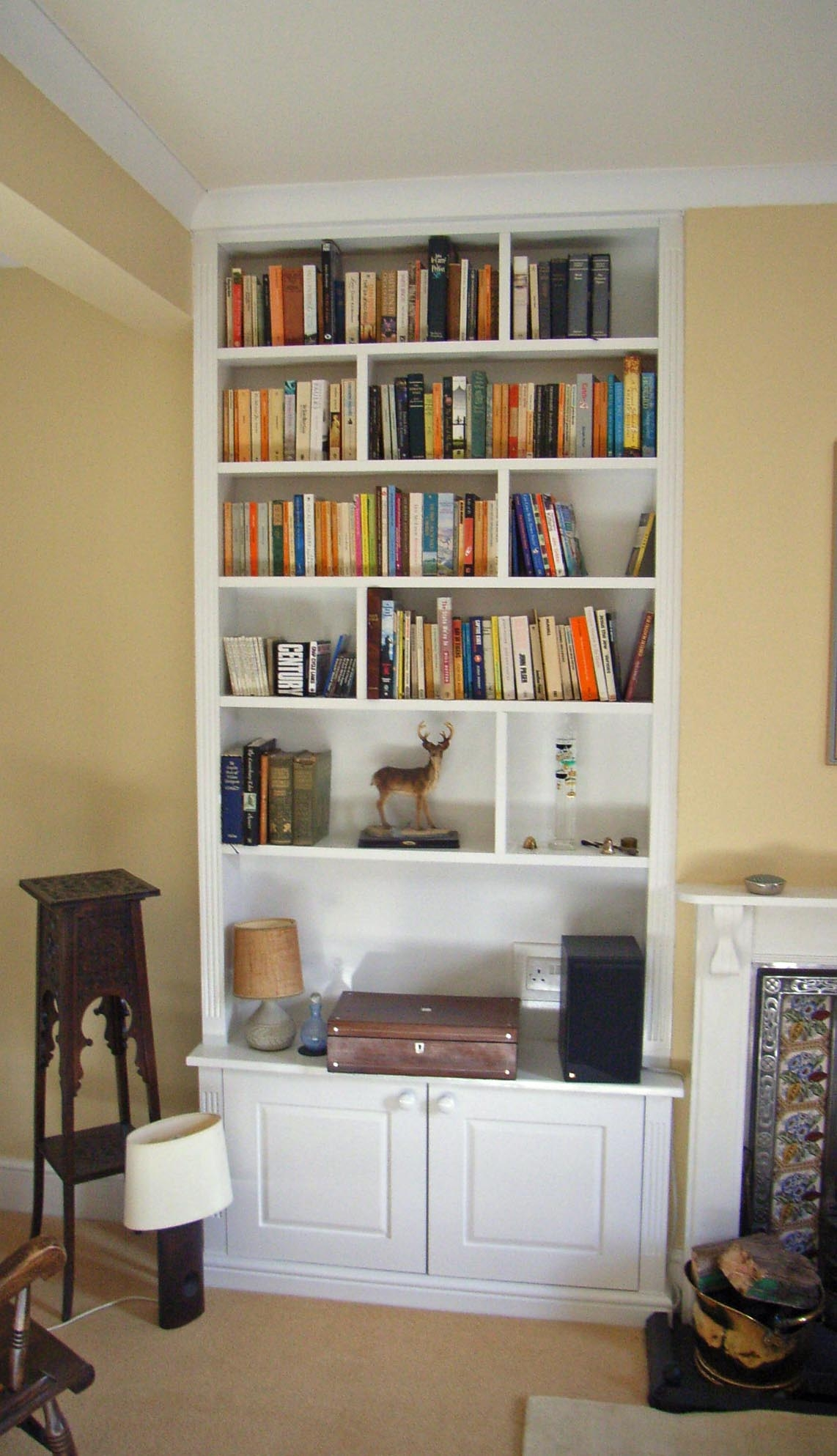 Av Unit With Lit Alcove Shelving Alcove Pinterest Alcove Pertaining To Fitted Shelving Units (View 4 of 15)