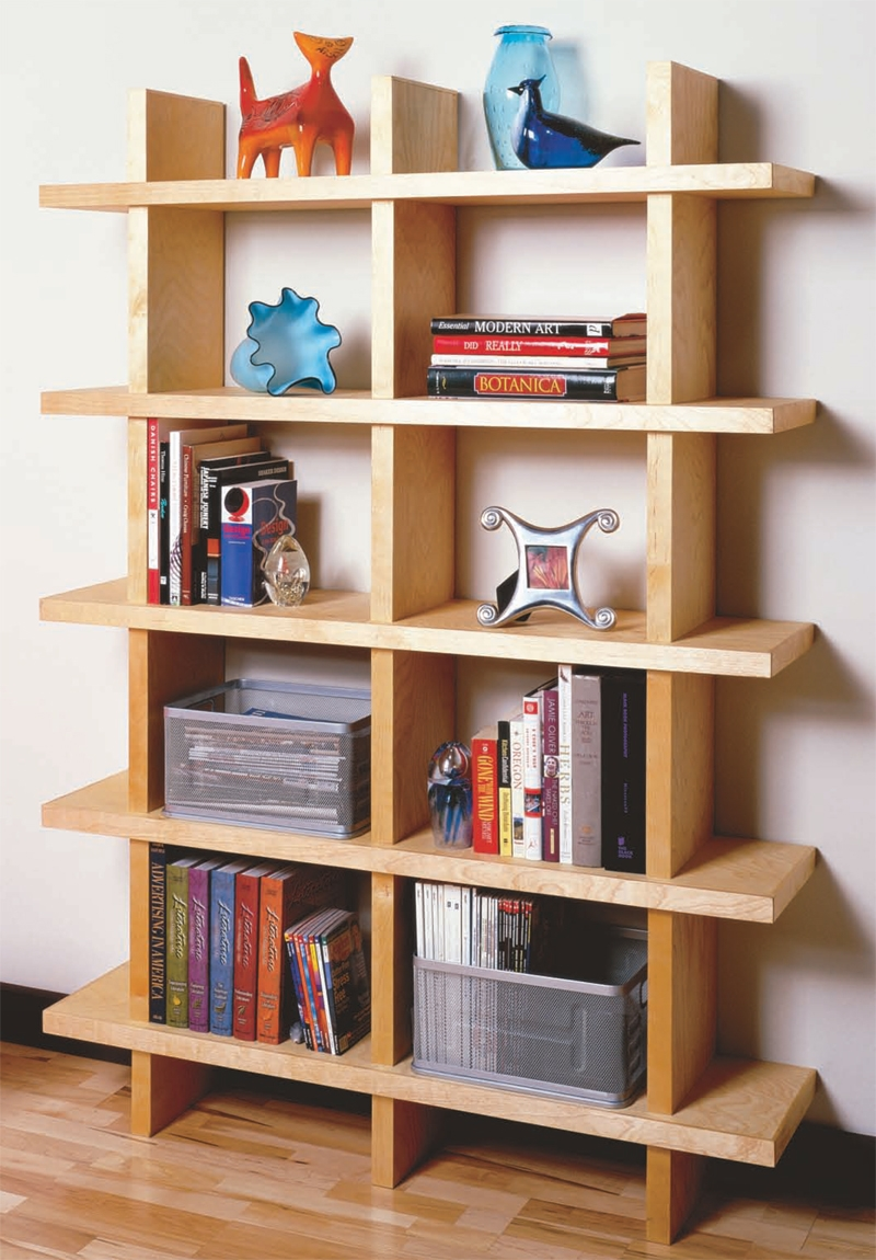 Aw Extra Contemporary Bookcase Popular Woodworking Magazine Intended For Contemporary Oak Bookcase (#1 of 15)