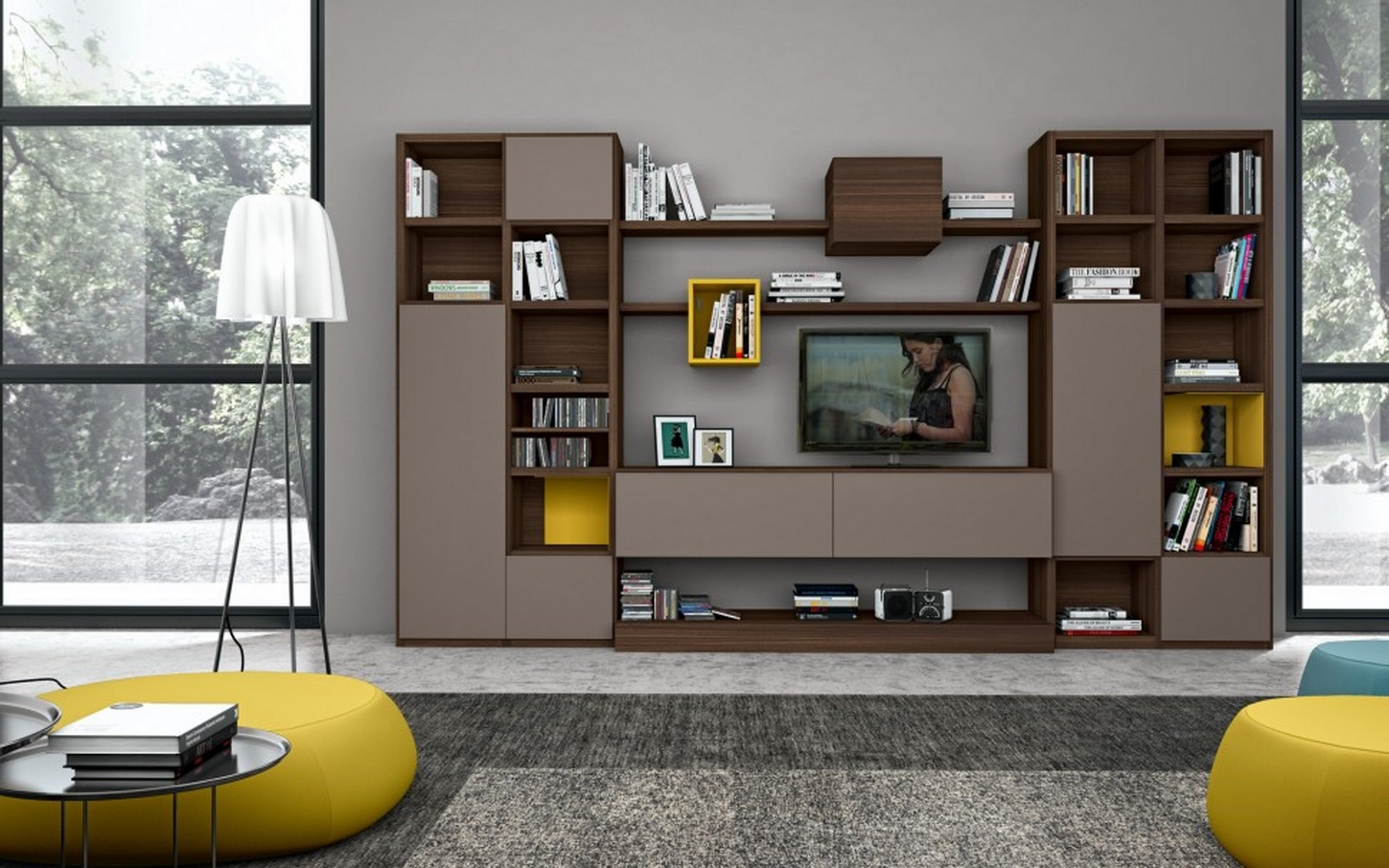 Awesome Tv Wall Cabinet Design Ideas Home Decorating Ideas Inside Tv Cabinet And Bookcase (#2 of 15)