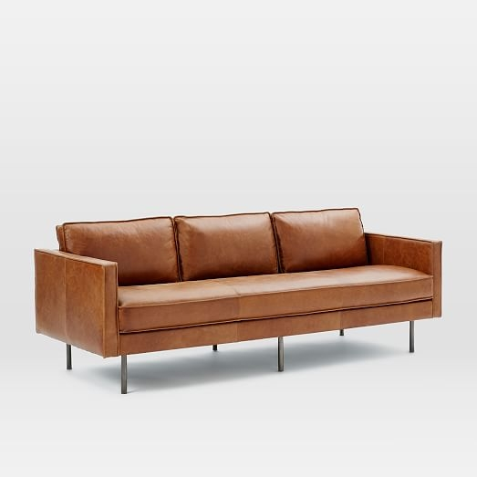 Axel Leather Sofa 89 West Elm Intended For Aniline Leather Sofas (#5 of 15)