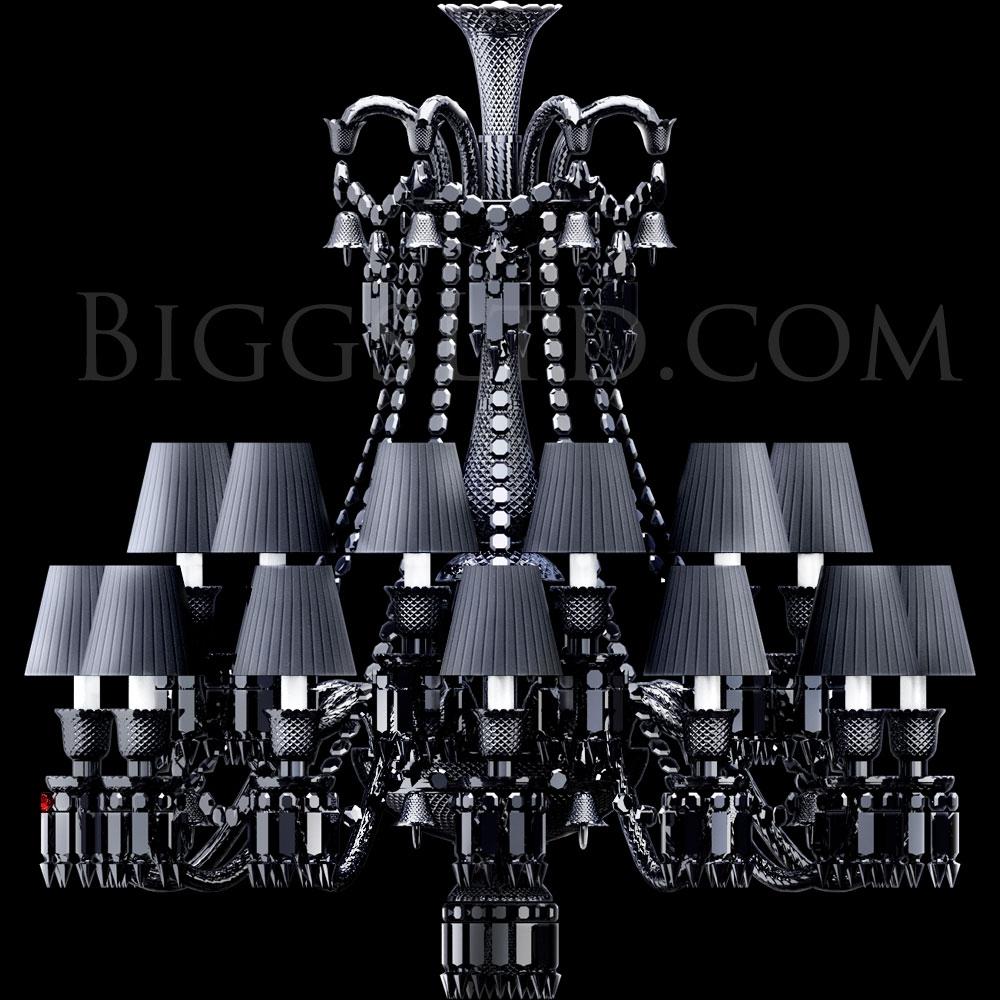 Baccarat Crystal Zenith Black Noird Short Chandelier 2606899 Pertaining To Short Chandelier (#1 of 12)
