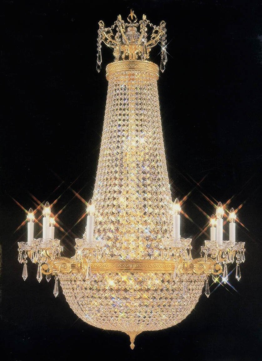 Ballroom Chandelier French Empire With Candles Free Shipping In Regarding Ballroom Chandeliers (#2 of 12)