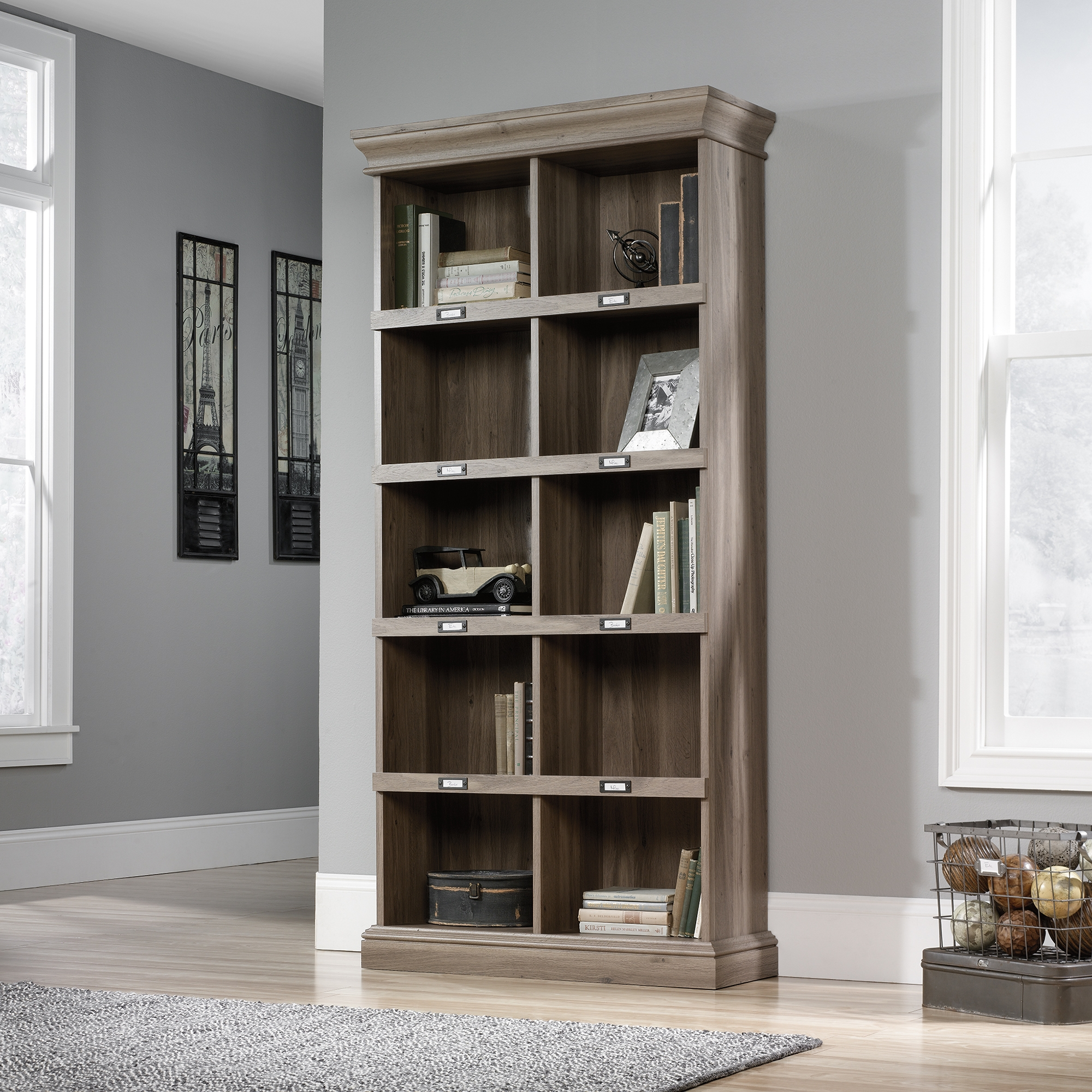 Barrister Lane Tall Bookcase 414108 Sauder With Tall Bookcases (View 5 of 15)