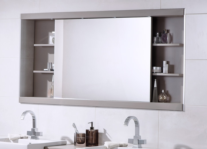 Bathroom Cabinet Mirrored Home Interior Design Ideas 2017 Within Bathroom Mirror Cupboards (#2 of 15)