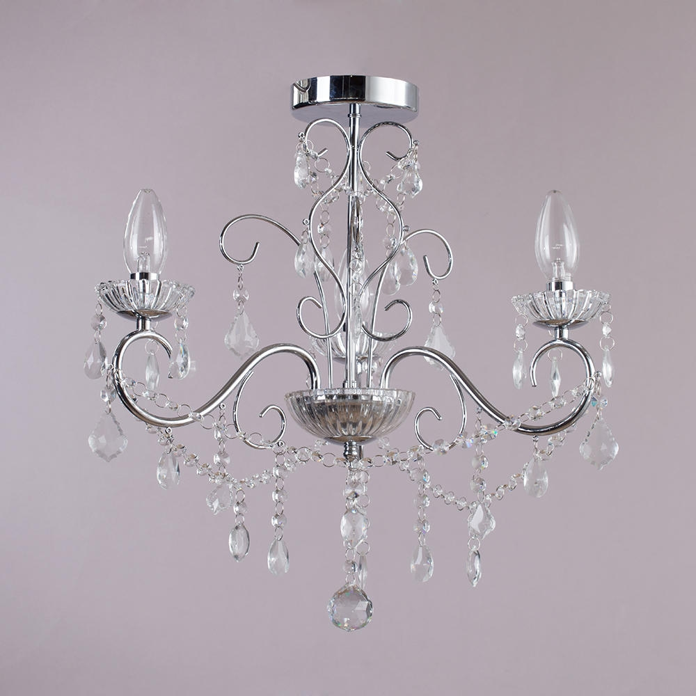 Bathroom Fearsome Chandelier Bathroom Picture Inspirations Spa Chr Within Chandeliers For Low Ceilings (#1 of 12)