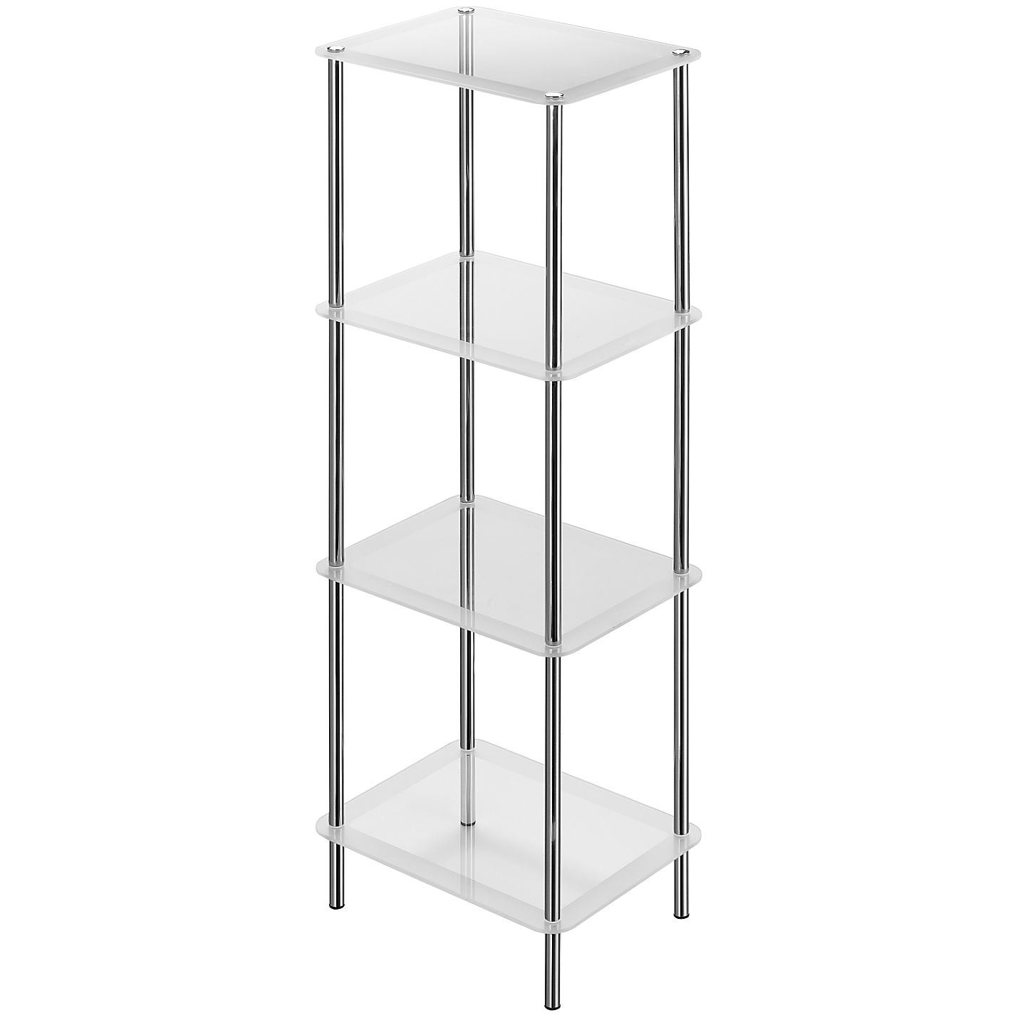 Bathroom Free Standing Shelving Units Bathroom Design Inside Free Standing Glass Shelves (#3 of 12)