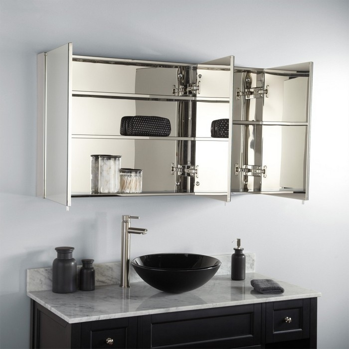 Bathroom Mirrors With Storage Ideas Diy Bathroom Mirror Storage With Regard To Bathroom Mirror Cupboards (#4 of 15)