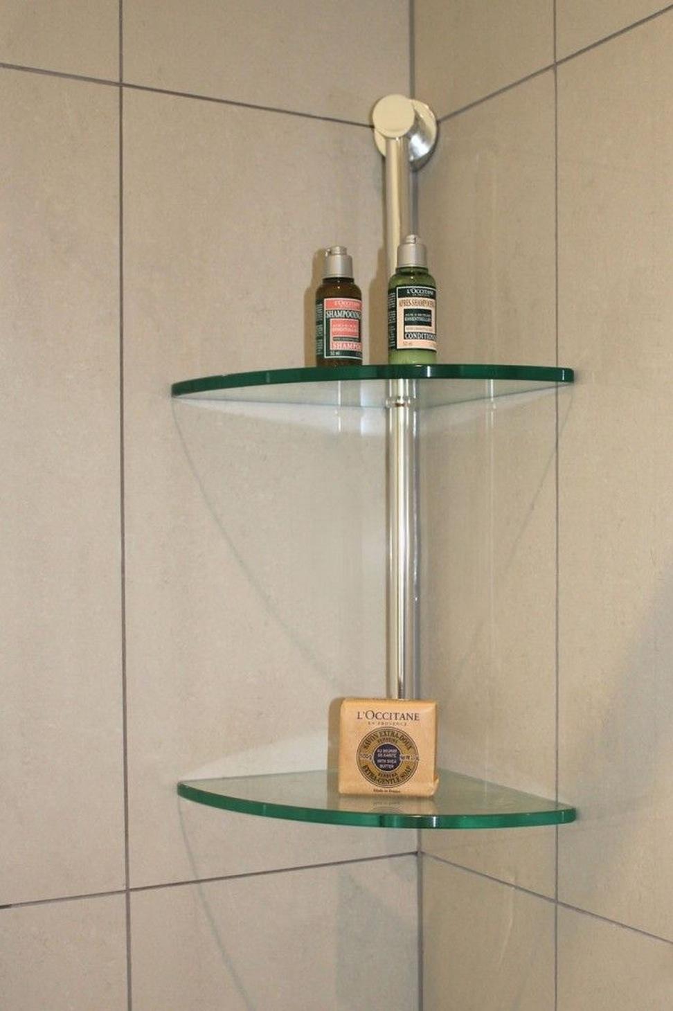 Bathtub Corner Shelves Icsdri Throughout Large Glass Corner Shelves (View 2 of 12)