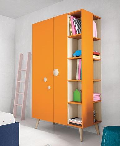 Battistella Woody Wardrobe With Open Shelves So Many Colour Regarding Wardrobe With Shelves (#3 of 15)