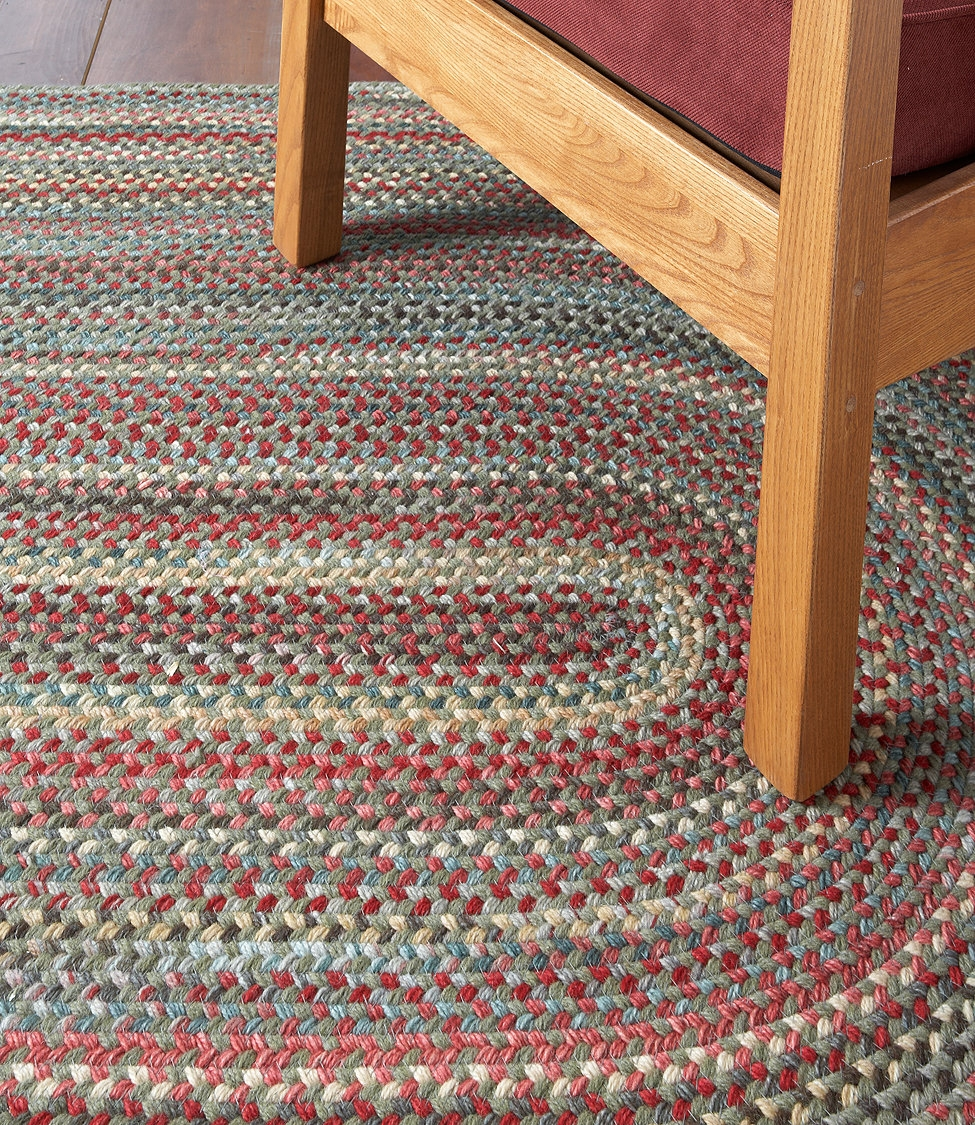 Beans Braided Wool Rug Oval Cottage Red Rosemoss Straw With Braided Wool Area Rugs (#3 of 15)