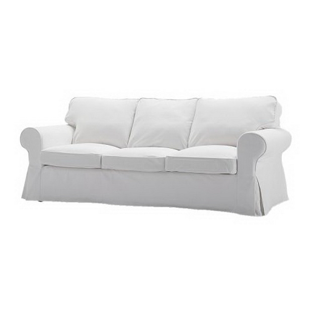 Beautiful Fabric And Corner Sofas For Living Rooms From Ikea Regarding White Fabric Sofas (#2 of 15)