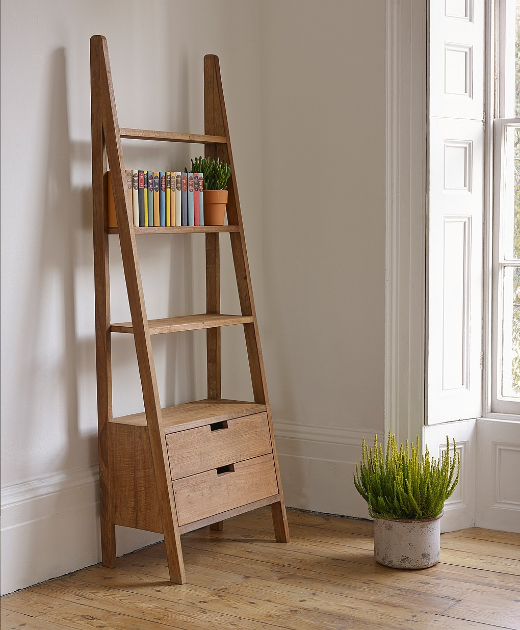 Beautiful Multi Purpose Ladder Shelves Optimizing Home Decor Ideas Inside Ladder Bookcase (View 8 of 15)
