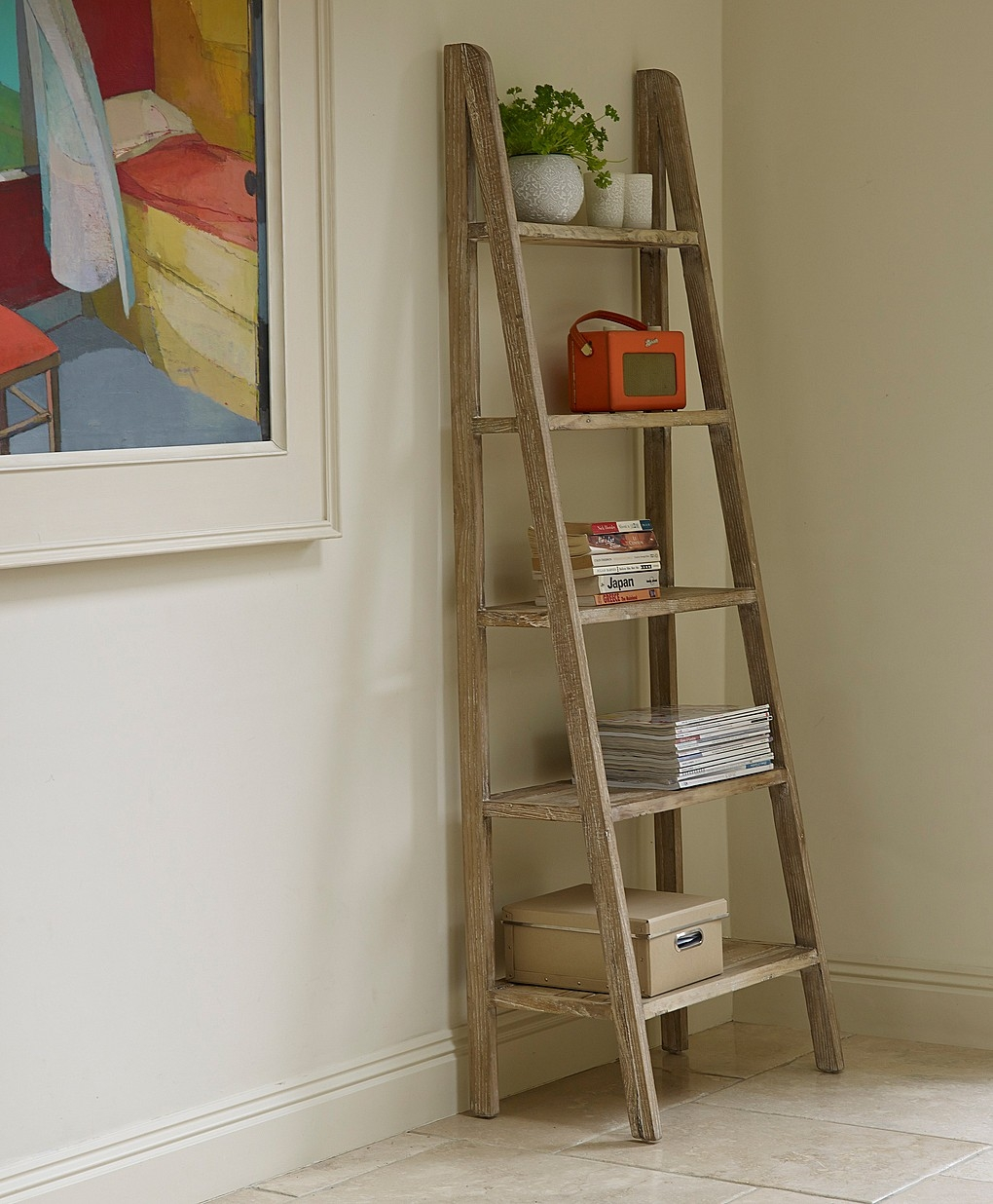 Beautiful Multi Purpose Ladder Shelves Optimizing Home Decor Ideas Within Ladder Shelves (#5 of 15)