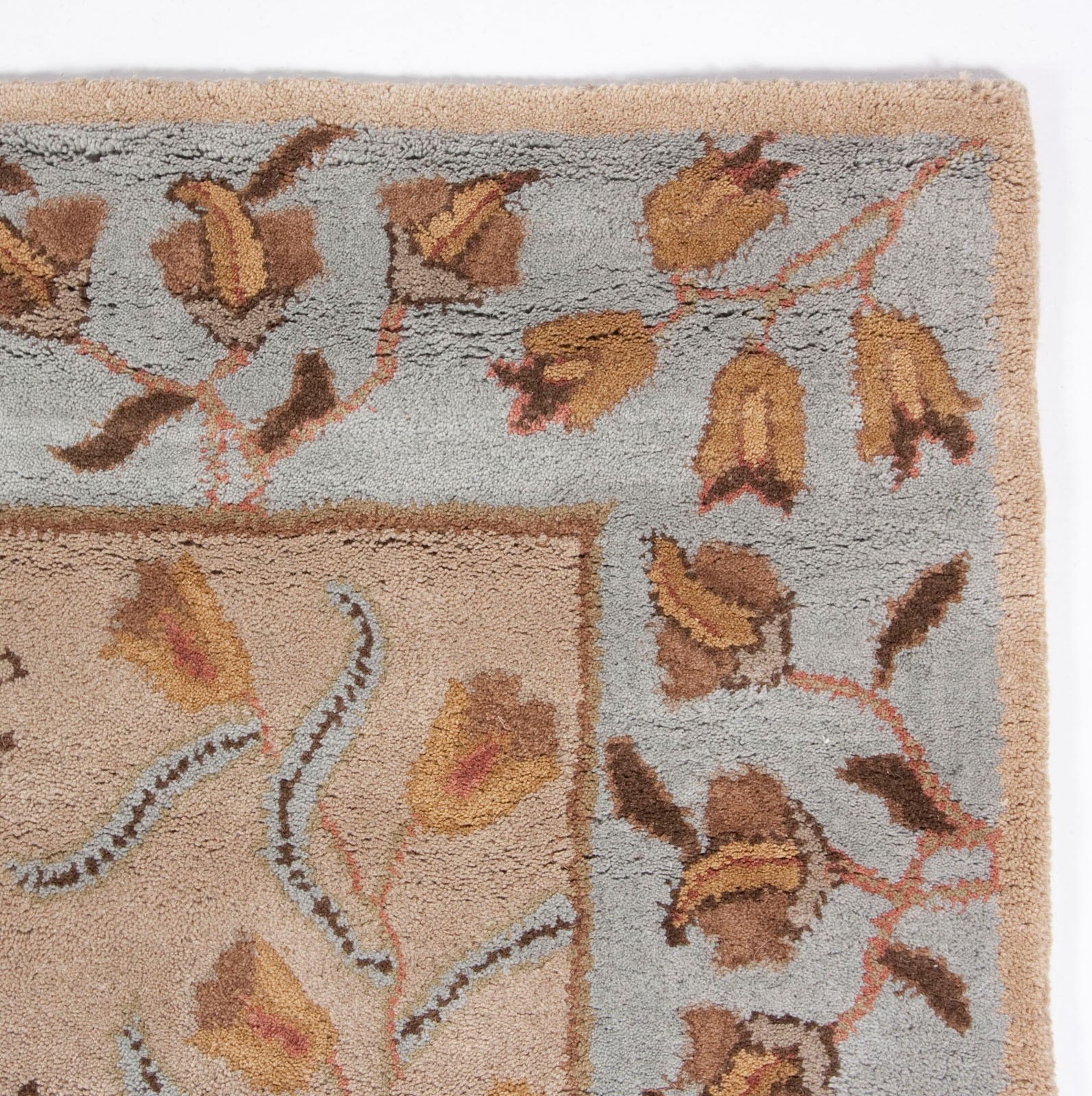 Beautiful Royal Traditional Wool Area Rug 5×8 Hand Tufted Beige For 5×8 Wool Area Rugs (#2 of 15)