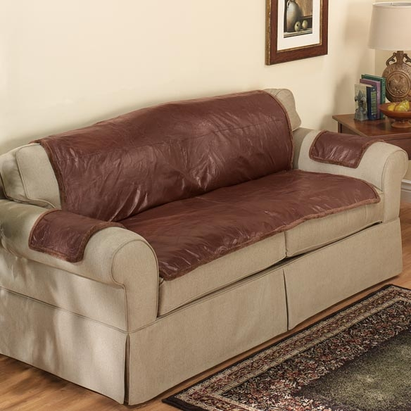 Beautiful Sofa Cover For Leather Couch Pertaining To Slipcover For Leather Sofas (View 6 of 15)