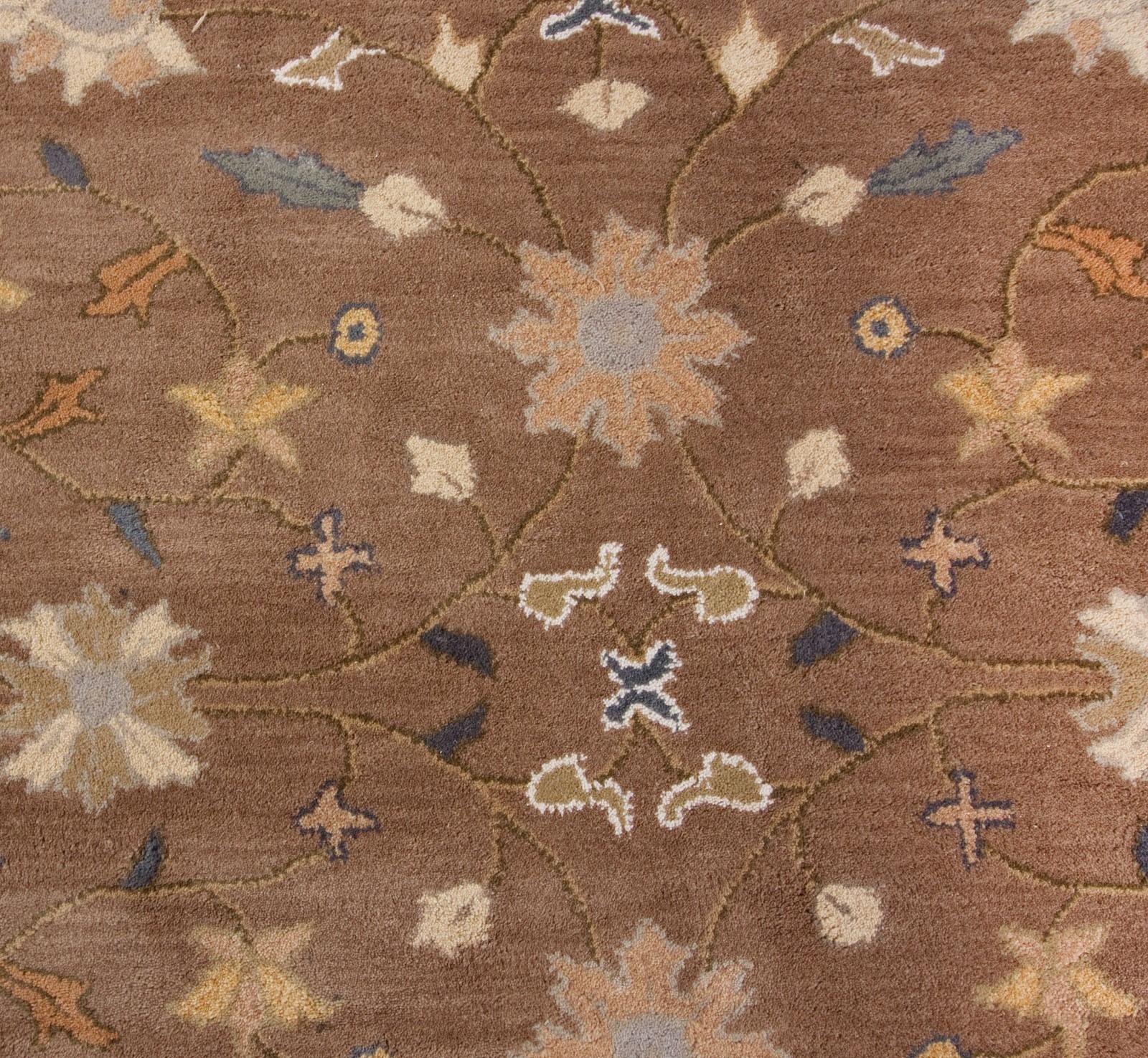 Beautiful Traditional Brown Blue 8×10 Handmade Wool Area Rug Heritage Regarding Blue Wool Area Rug (#3 of 15)