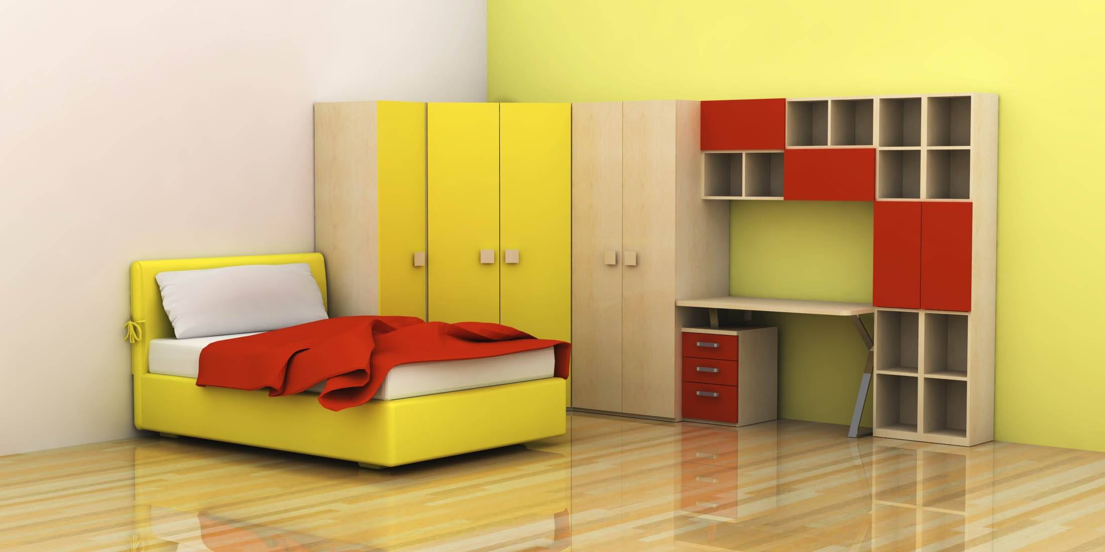 Bedroom Decor Creative Designs For Kids With Bedrooms Ideas Intended For Study Cupboard Designs (View 9 of 15)