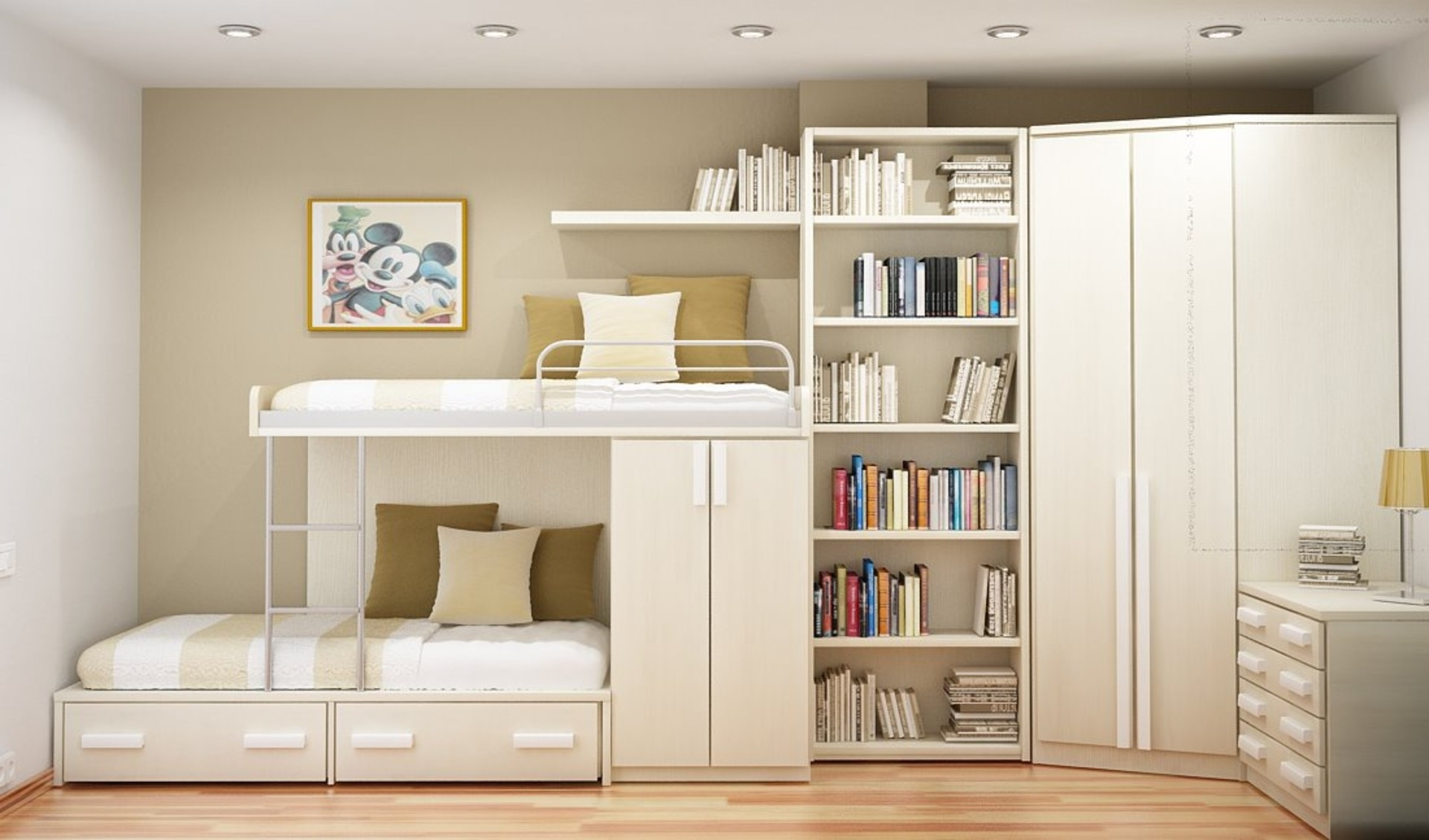Bedroom Likable Bedroom Designs For Small Rooms Ideas With White Intended For Bookcase With Cupboard Under (#2 of 15)