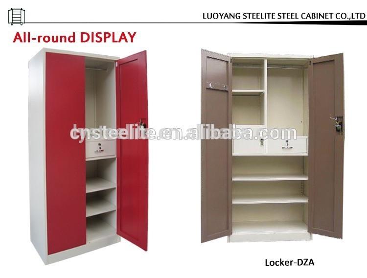 Bedroom Metal Wardrobesteel Armoire Wardrobebedroom Hanging Intended For Metal Wardrobes (View 10 of 15)