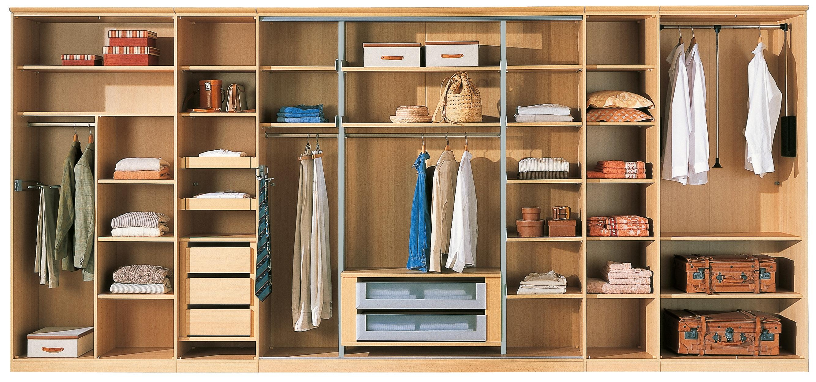 Bedroom Wardrobe Interior Shelves Design Ideas 2017 2018 With Regard To Wardrobe With Drawers And Shelves (View 5 of 15)