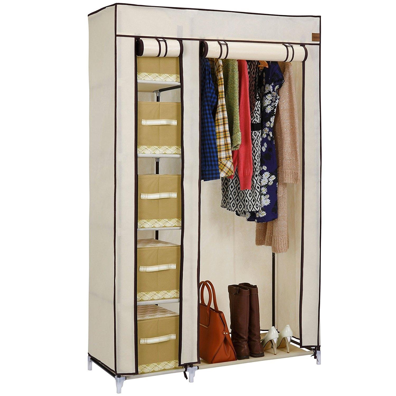 Bedroom Wardrobes Bedroom Furniture Shop Amazon Uk Inside Double Rail Wardrobe (View 8 of 15)