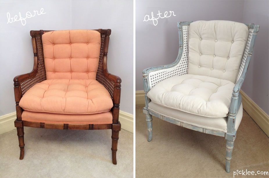 Before After White Cane Chair Your Pick Picklee Pertaining To White Cane Sofas (#4 of 15)